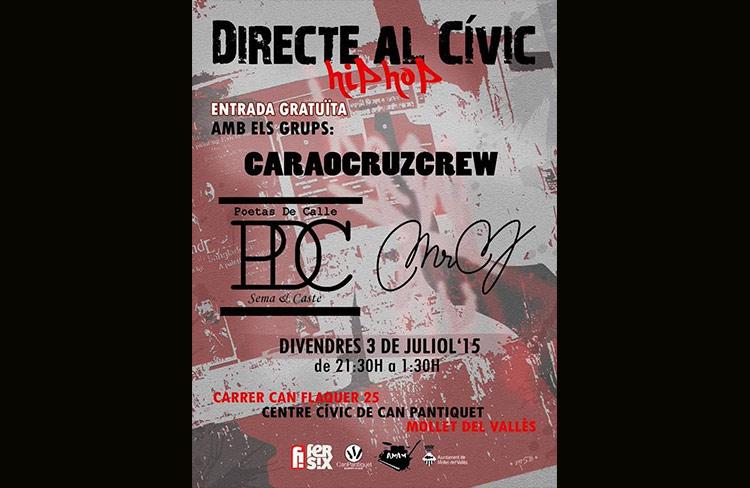 Directe al Cívic. Hip hop  @ CC. Can Pantiquet    Mollet del Vallès   Espanya