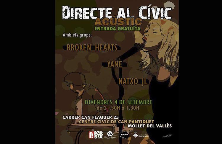 Directe al Cívic, acústic  @ CC. Can Pantiquet  | Mollet del Vallès | Catalunya | Espanya