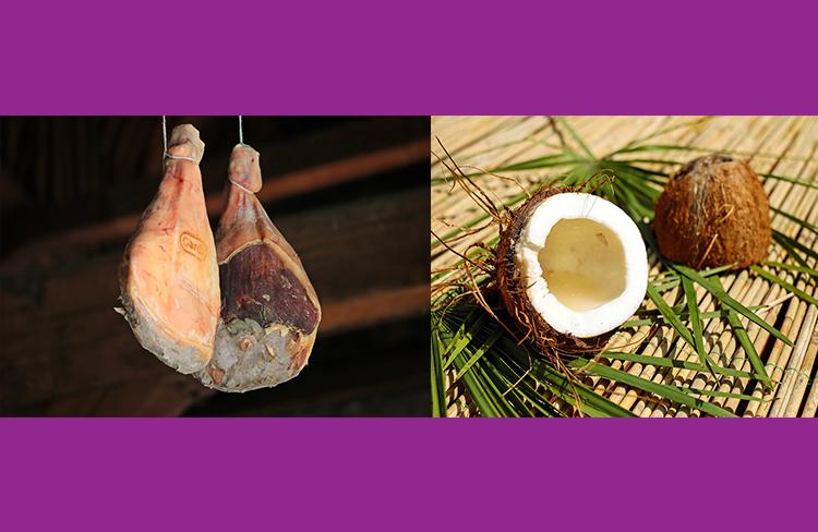 Llançament de pernil i coco  @ Plaça de Pau Casals