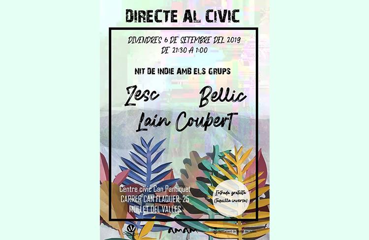 Directe al Cívic-Indie  @ CC de Can Pantiquet