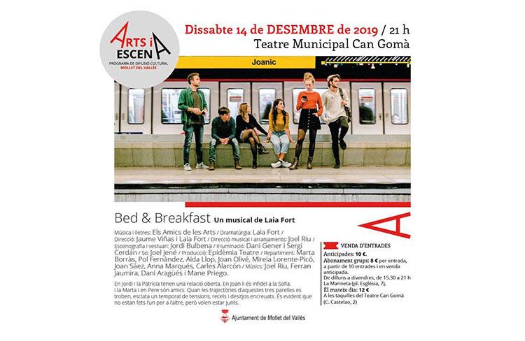 Bedandbreakfast musical  @ Teatre Can Gomà